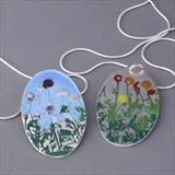 Flower Border Pendants