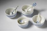 Porcelain Salt Dishes with spoons