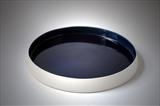 large blue dish