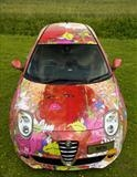 Alfa MiTo wrapped in \'Because I Can\' by Louise Dear